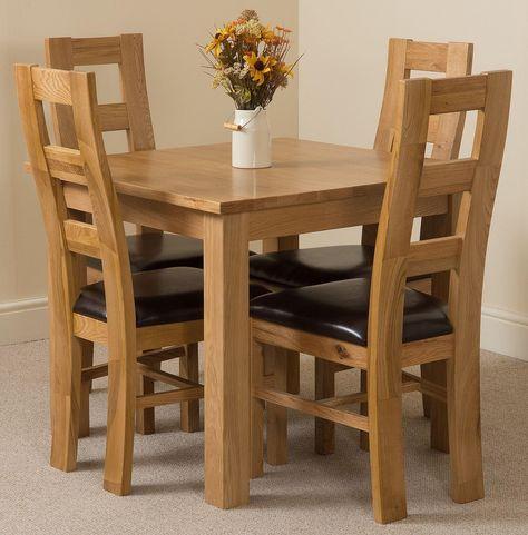 4 seater dining set brown