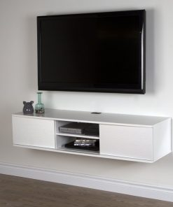 all white tv stand