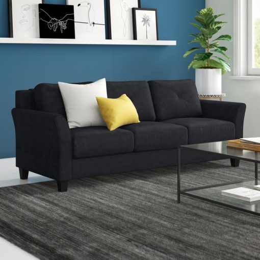 3 in 1 one sofa couch black brown material