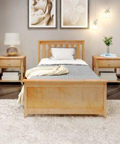 kids bed natural wood ghana bedside cabinet