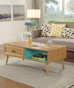 traditional styled center table brown