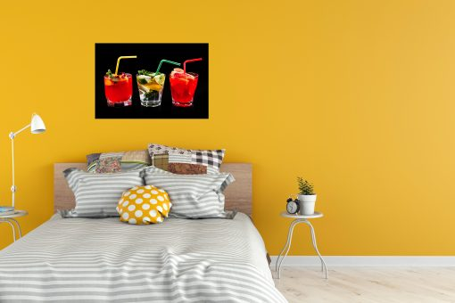 drinks in cup black background kitchen dining living room art