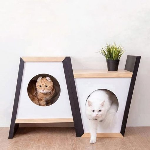 twin cat dog house