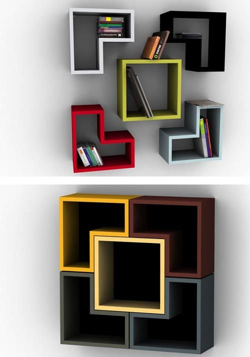 floating shelve wall decor colour