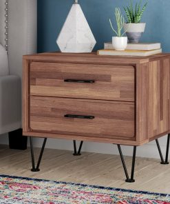 modern traditional bedside cabinet 2 drawers