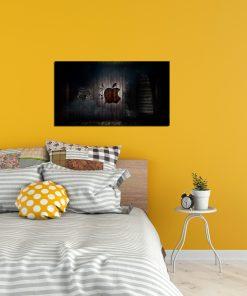 apple logo art wall display