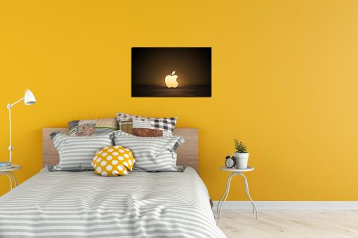 apple logo art IT office diaplay