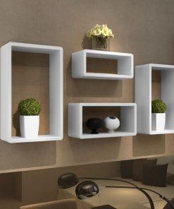 round edge wall decor floating shelf