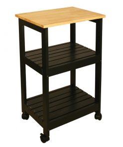 black dark kitchen cart