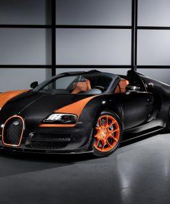 Bugatti sports orange latest car modern 2020
