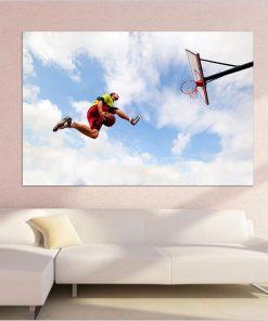 basketball men jump sky