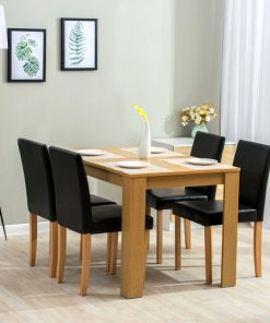 4 seater dining set leather seat