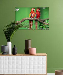 parrot on tree wall art display