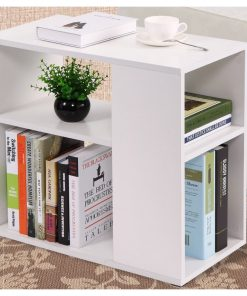 all white coffee side end table storage