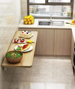 wall space saving kitchen mount table collapsible