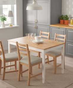 4 seater dining seater white and brown