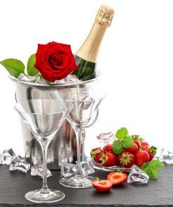 Champagne_Roses_Strawberry_Bottle_Stemware_Ice