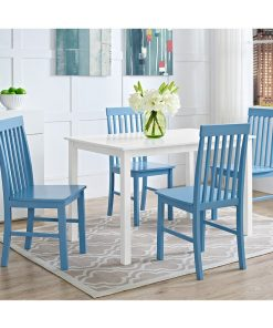 4 seater dining set blue and white