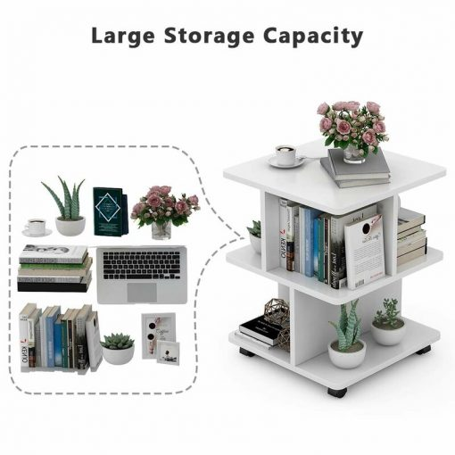 large storage coffee side end table