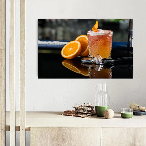 alcohol cocktail juice wall kitchen wall display