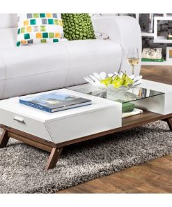Traditional style modern center centre table with drawers