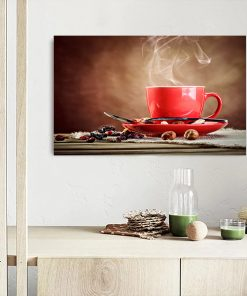 coffee in cup art kitchen display