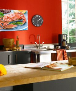 crabs in plate wall kitchen display
