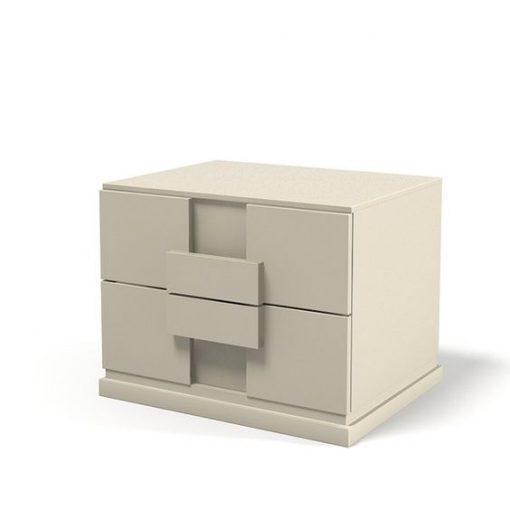 cream bedside 2 drawer cabinet
