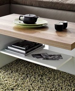 simple coffee table white brown