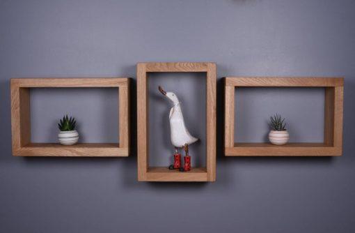 floating shelf natural wood