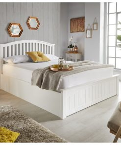 traditional white luxury natural wood kings size