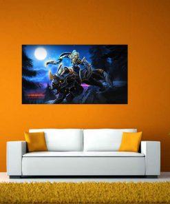 Dota image art wall display