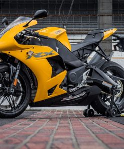 Yellow and black EBR side view motor