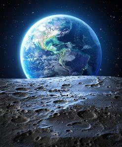 earth moon nature black wallpaper frame