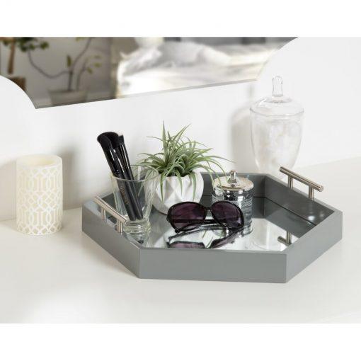 grey serving tray