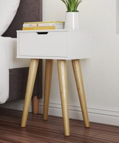 4 legged bedside table with drawer