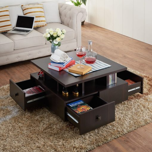 centre table with drawers brown colour