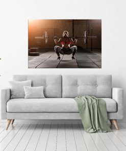 women lady at gym wall display pictures