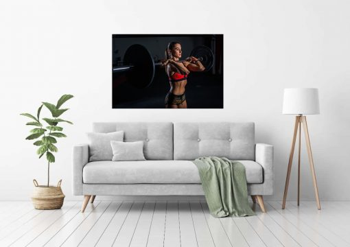 gym inspiration wall art display women