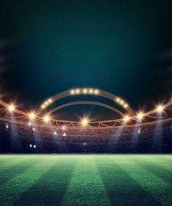 Footbal_Evening_Stadium_Lawn_Rays_of_light