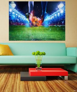 Football_Fire_Stadium_Legs_Ball_Athletic_shoe_Law