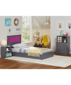 1 and half bed twin kids bed with drawers