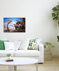 giraffes art wall display