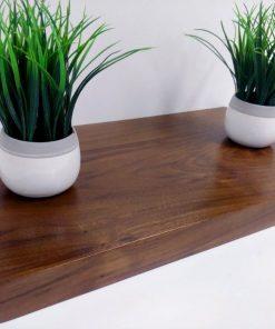 natural wood color floating shelve brown