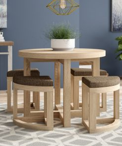 Dining table with chairs cute round 4 seat