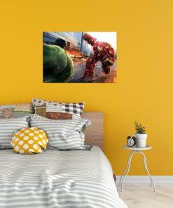 Hulkhero art wall display