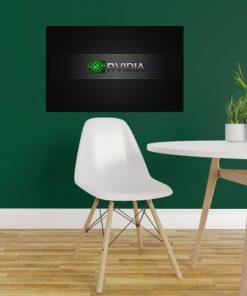 nvidia logo wall display