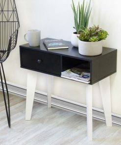 side table black and white