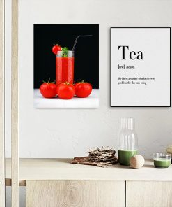 tomatoes huice kitchen wall art display