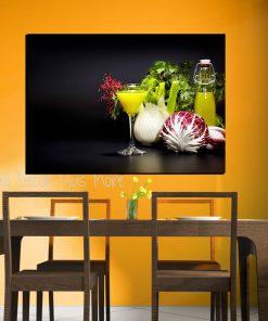 vegetables juice wall kicthen art picture display